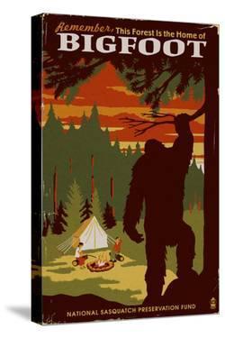 Home of Bigfoot - WPA Style by Lantern Press