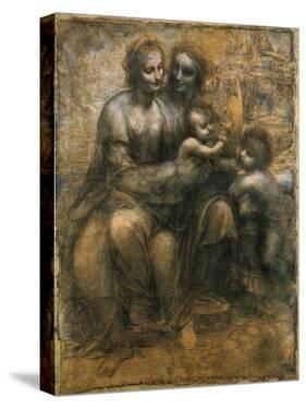 The Virgin and Child with Saint Anne and Saint John the Baptist, C1500 by Leonardo da Vinci