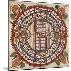 Jain Cosmological Map, 19th Century by Library of Congress