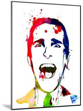 American Psycho Watercolor by Lora Feldman