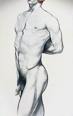 Male Nude 4 by Lowell Blair Nesbitt