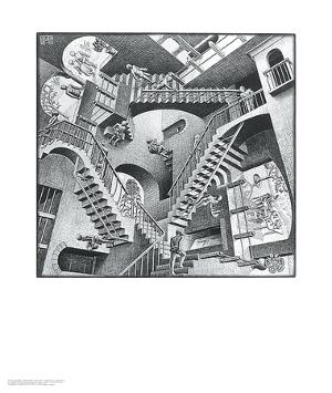 Relativity by M. C. Escher