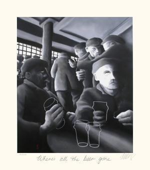 Where's All the Beer Gone by Mackenzie Thorpe