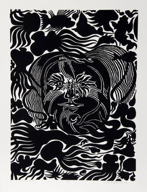 Marine Garden (Black) by Manuel Izqueirdo