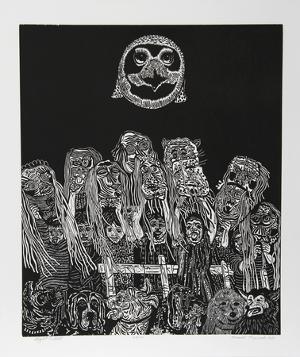 Night Festival (Black) by Manuel Izqueirdo