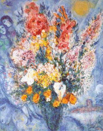 Marc chagall posters and prints at for Bouquet de fleurs 10