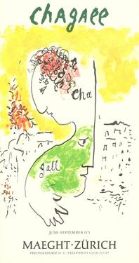 Man and Goat by Marc Chagall