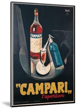 Poster Advertising Campari l'aperitivo by Marcello Nizzoli