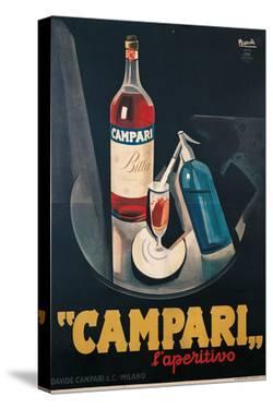 Poster Advertising Campari Laperitivo by Marcello Nizzoli