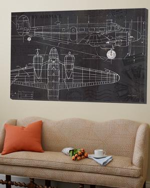 Plane Blueprint by Marco Fabiano