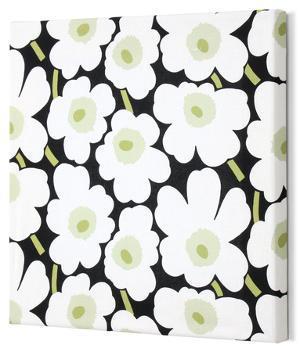 Marimekko®  Mini-Unikko Fabric Panel - Blk/Wht/Grn 15x15