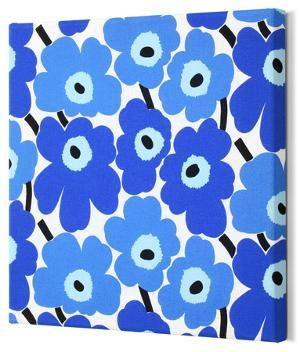Marimekko®  Mini-Unikko Fabric Panel - Blue 13x13