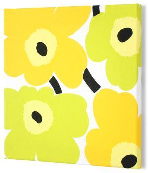 Marimekko®  Unikko Fabric Panel - Lime/Yel Pieni 13x13