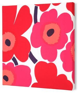 Marimekko®  Unikko Fabric Panel - Red Pieni 13x13