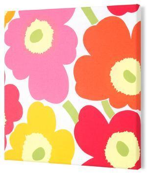 Marimekko®  Unikko Fabric Panel - Yel/Org/Pink Pieni 15x15