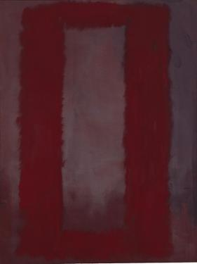 Mural, Section 4 {Red on maroon} [Seagram Mural] by Mark Rothko
