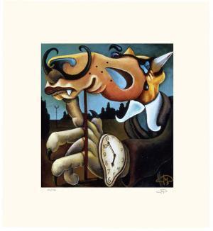 Coyote Portrait of Dali by Markus Pierson