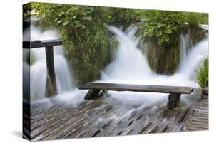 Bench in Water, Plitvice Lakes, Plitvicka Jezera, Croatia by Martin Zwick