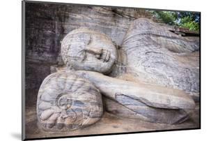 Reclining Buddha in Nirvana at Gal Vihara Rock Temple by Matthew Williams-Ellis