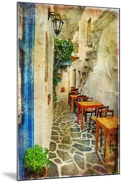 Traditional Greek Tavernas - Artwork In Painting Style by Maugli-l