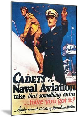 Cadets for Naval Aviation Take That Something Extra, 1943 by McClelland Barclay