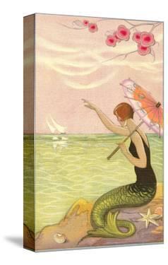 Mermaid Waving at Sailboats