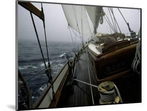 Sailing in Stormy Weather, Ticondergoa Race by Michael Brown