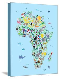 Childrens Maps Posters And Prints At Artcom - Map of africa for kids
