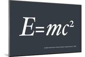 Einstein E equals mc2 by Michael Tompsett