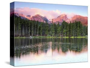 Sunrise Reflections on Sprague Lake, Rocky Mountain National Park, Colorado, USA by Michel Hersen