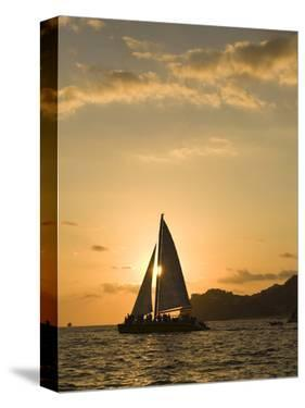 Sailboat at Sunset, Bay of Land's End (El Arco),Cabo San Lucas, Baja, Mexico by Michele Westmorland