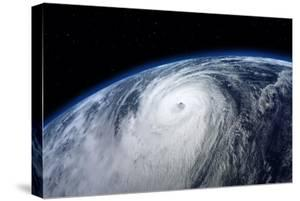 Typhoon, Satellite View. Elements of this Image Furnished by NASA by Mike_Kiev