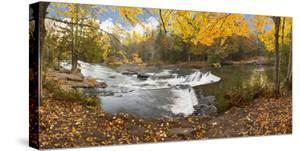 Bond Falls In Autumn Panorama #2, Bruce Crossing, Michigan '12 by Monte Nagler