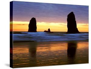 Canyon Beach Sunset, Cannon Beach, Oregon 02 by Monte Nagler