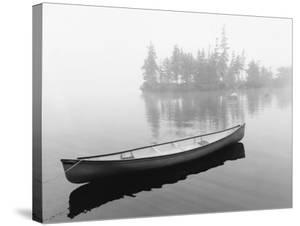 Lone Canoe, Liverpool, Nova Scotia, Canada 04 by Monte Nagler