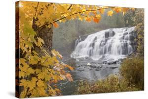 Lower Bond Falls In Autumn #2, Bruce Crossing, MI '11 by Monte Nagler