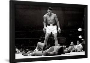 muhammad ali vs sonny liston framed art print - Muhammad Ali Framed Pictures