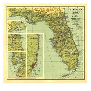 Maps Of Florida Posters And Prints At Artcom - Maps florida