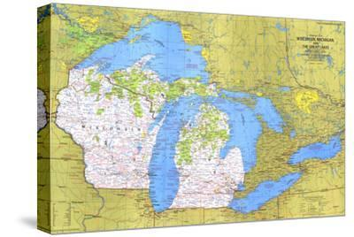 Maps of Wisconsin canvas Posters and Prints at Artcom