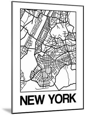 White Map of New York by NaxArt