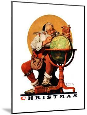 """""""Santa at the Globe"""", December 4,1926 by Norman Rockwell"""