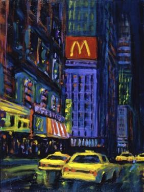 Racing Taxis at Night, New York City by Patti Mollica
