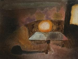 The Lamp on the Terrace; Die Lampe Auf Dem Balcon by Paul Klee