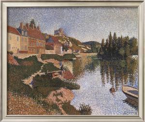 Riverbank by Paul Signac