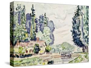 The Blue Poplars, 1903 by Paul Signac