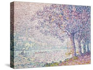 The Seine at St. Cloud, La Seine a St. Cloud, 1903 by Paul Signac