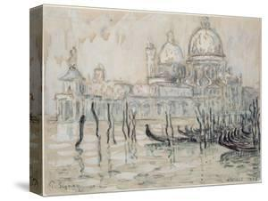 Venice Or, the Gondolas, 1908 (Black Chalk and W/C on Paper) by Paul Signac