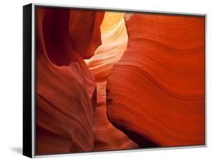 Sunlight Filters Down Carved Red Sandstone Walls of Lower Antelope Canyon, Page, Arizona, Usa by Paul Souders