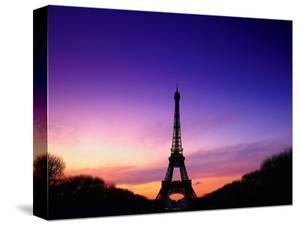 Eiffel Tower at Dusk, Paris, France by Peter Adams