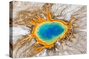 Grand Prismatic Spring, Midway Geyser Basin, Yellowstone National Park, Wyoming, Usa by Peter Adams